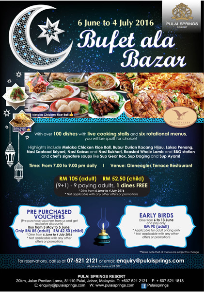 Buffet Ramadhan 2016 Pulai Springs Resort