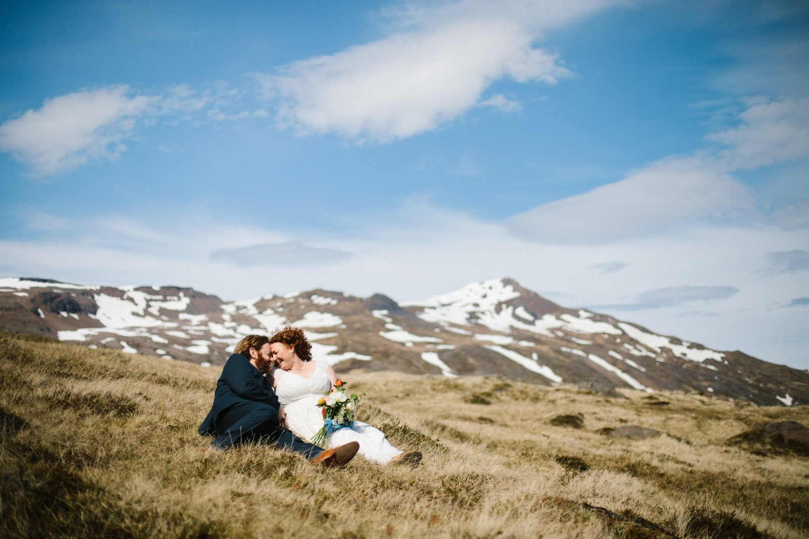 Djúpavík Iceland Wedding Bridal Portrait