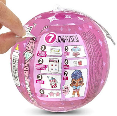 Pink ball L.O.L. Sparkle Series with Christmas ornament dolls 2019 - photo