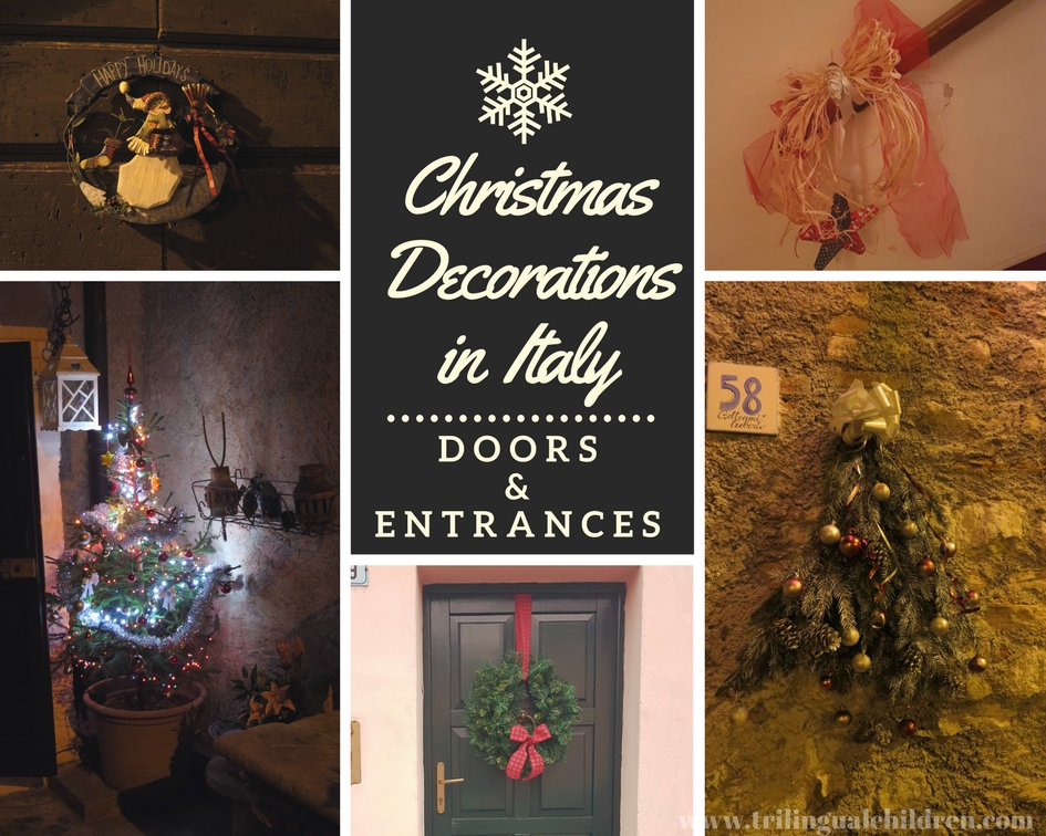 there is almost no single door left without a decoration red color bows and christmas wreaths are used often this year