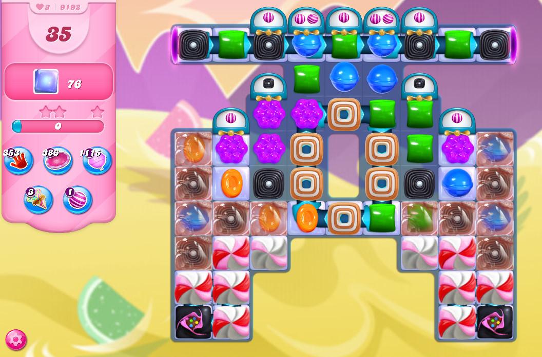 Candy Crush Saga level 9192