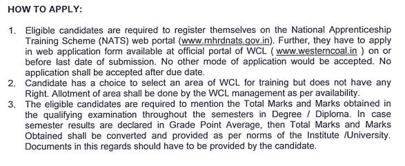 03 Apprentice Recruitment in Western Coalfields Limited (WCL)