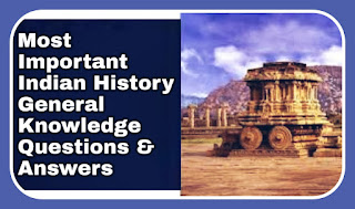 Gk On Indian History