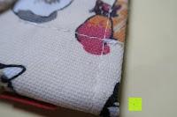 Nähte: Damero Rollentasche für Gelstift Schreibzubehör gerollter Halter mit Leiwand für Buntstift Reiseorganisator-Beutel für Künstler, Mehrzweck (keine Bleistifte im Lieferumfang enthalten), 48 Löcher, Katzen
