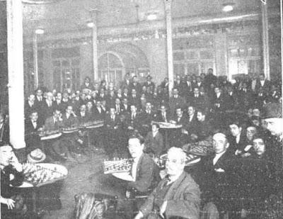 Simultáneas de ajedrez dados por Soler, Vilardebó y Sasot en 1924