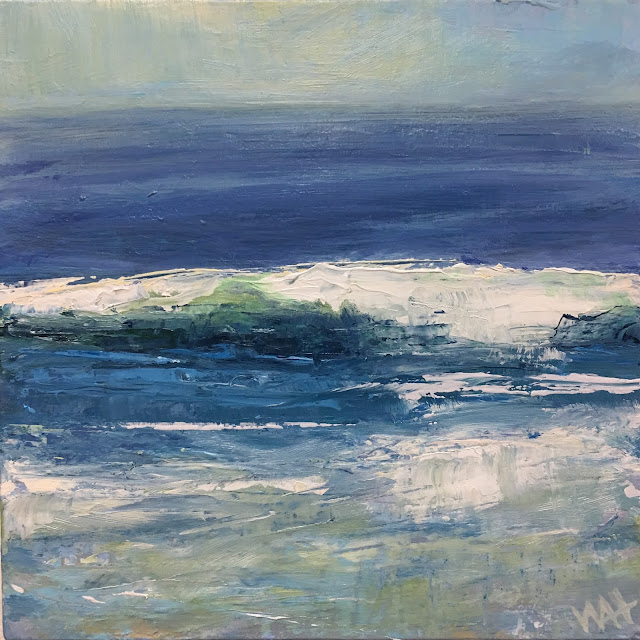 Oil painting of a wave