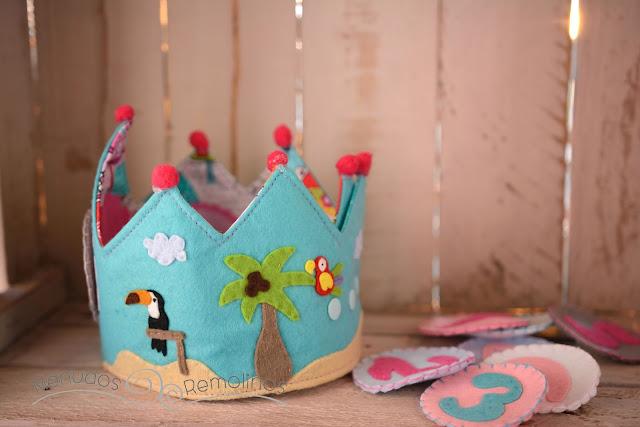 Corona de cumpleaños aloha