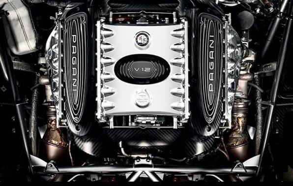 Mesin Pagani Mercedes V12