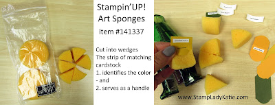 tip for labeling Stampin'UP!'s Art Sponges