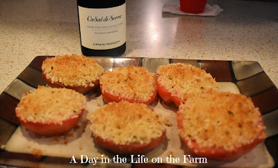 Baked Tomatoes and Wine