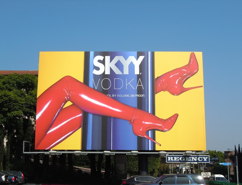 Skyy Vodka red heels billboard