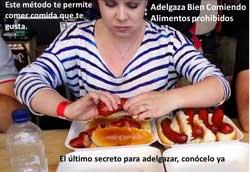 Adelgaza bien comiendo alimentos prohibidos