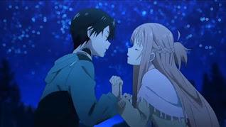 Kirito to Asuna wa kekkyoku futatabi deatta. Da ga shikashi tsuyoi teki ga totsuzen arawareta