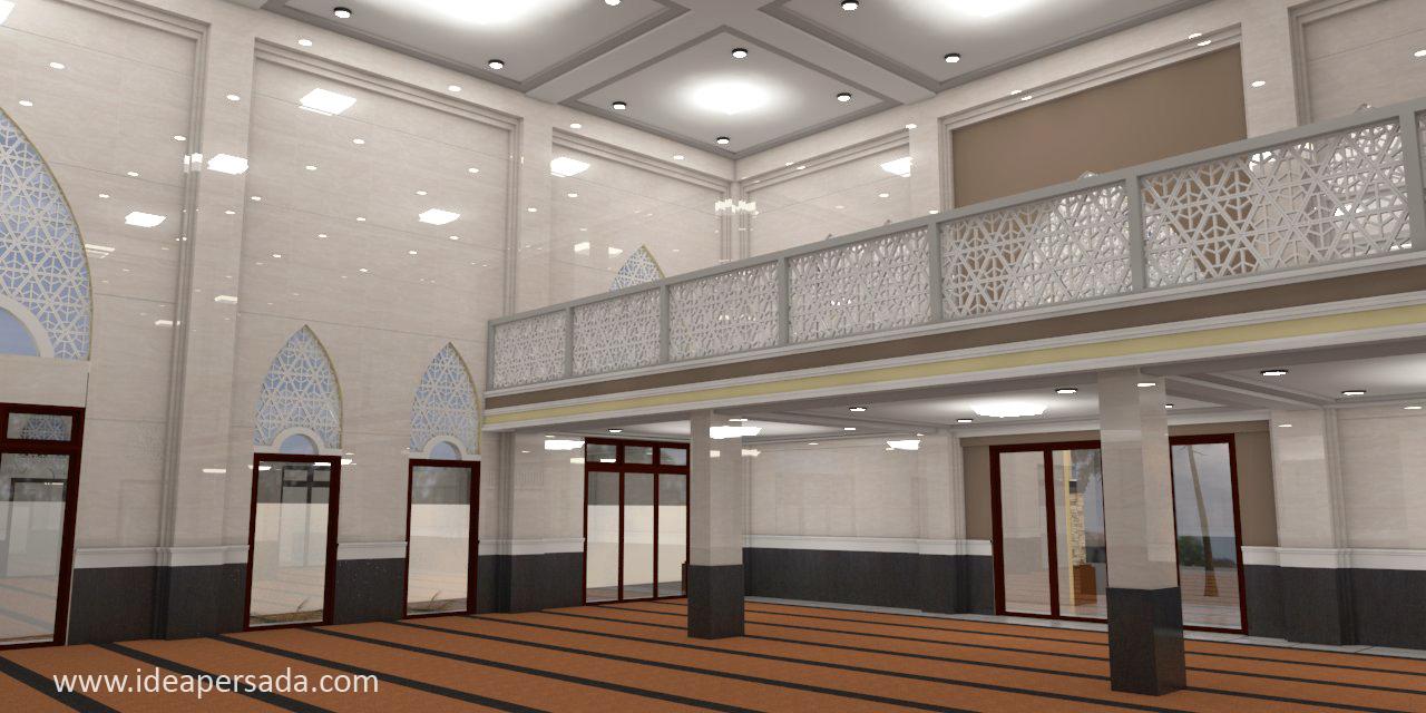 Desain Interior Masjid 2 Lantai
