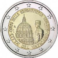 vatikaani 2 euroa kolikko santarmit 200 vuotta 2016