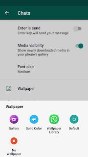Memilih Wallpaper atau background whatsapp chat