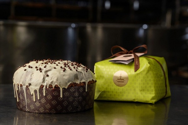 Panettone con gocce di cioccolato e pera candita