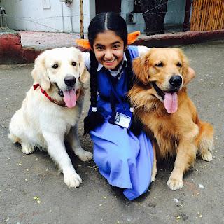 Anushka Sen with Dog
