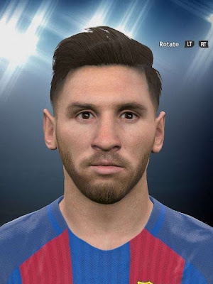 PES 2016 Lionel Messi Face With Beard
