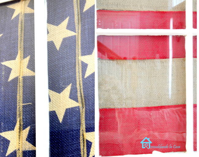 burlap for fourth of July - patriotic project