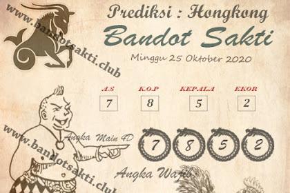 Syair Bandot Sakti Togel Hongkong Minggu 25 Oktober 2020