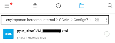 Location Folder Configs GCAM 7