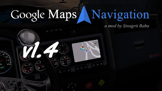 american truck simulator mods, ats google maps navigation v1.4, ats google maps navigation download, ats gps, ats mods, ats mods download, ats real navigation, atsworks, sinagrit baba's mods