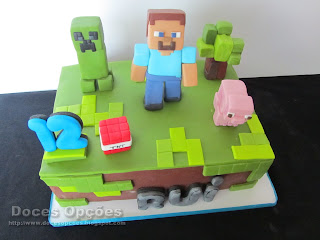 cake birthday minecraft
