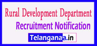 RDD Rural Development department recruitment notification 2017