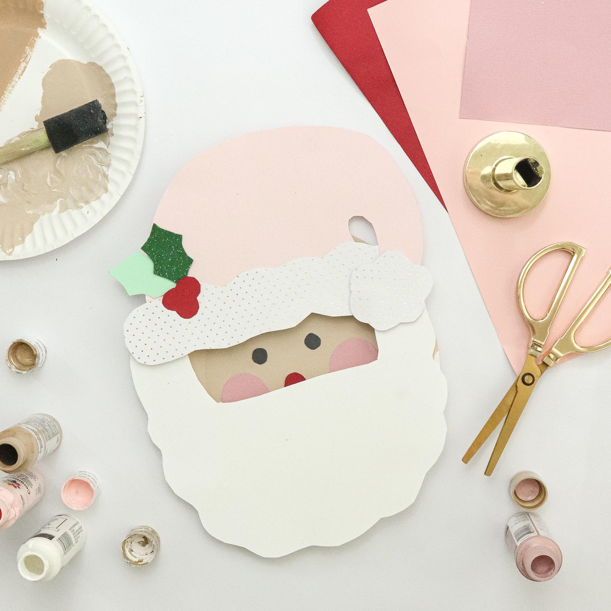 paper plate crafts santa