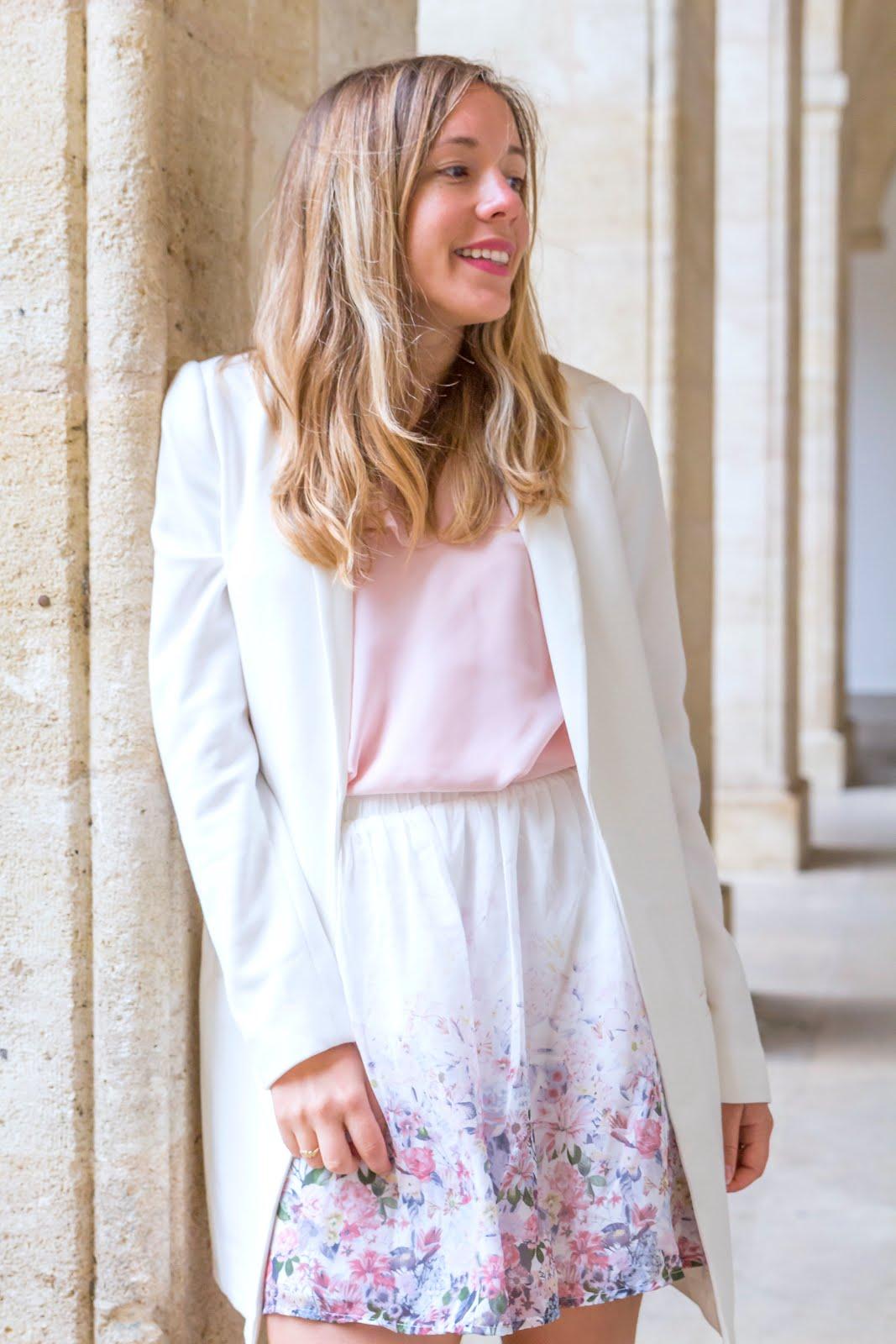 veste longue blanche