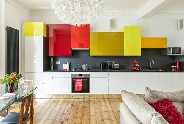 This Is 15 Modern kitchen design ideas in bright color combinations