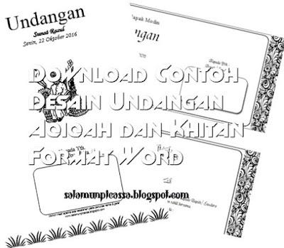 Undangan Aqiqah dan Khitan Format Word
