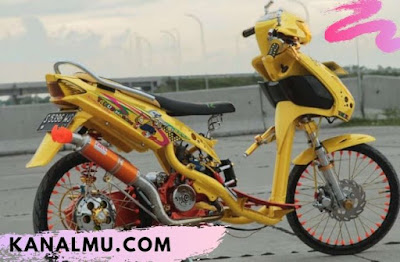 modifikasi mio drag bike