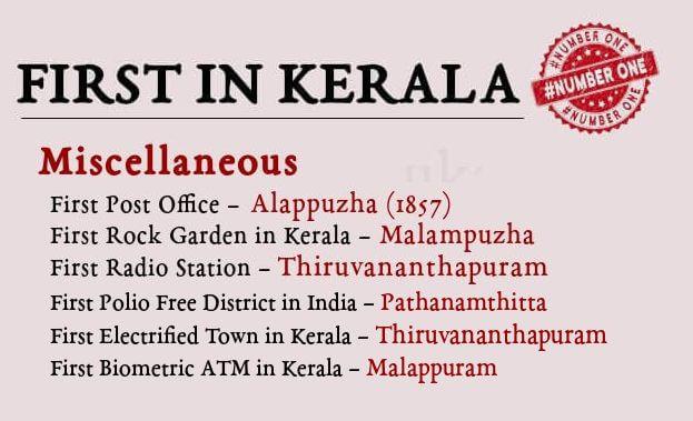 First in Kerala