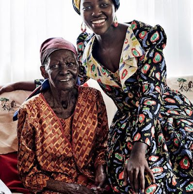 Lupita Nyong'o poses with grandmother as actress covers Vogue Magazine