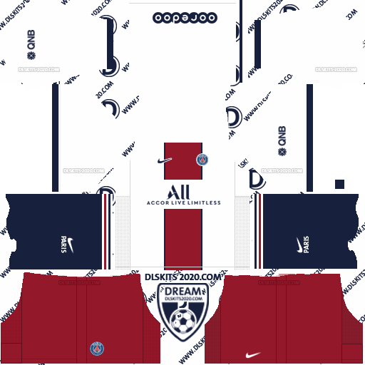 paris saint germain (PSG) Kits 2020-2021 Nike For Dream League Soccer 2019 (Away)
