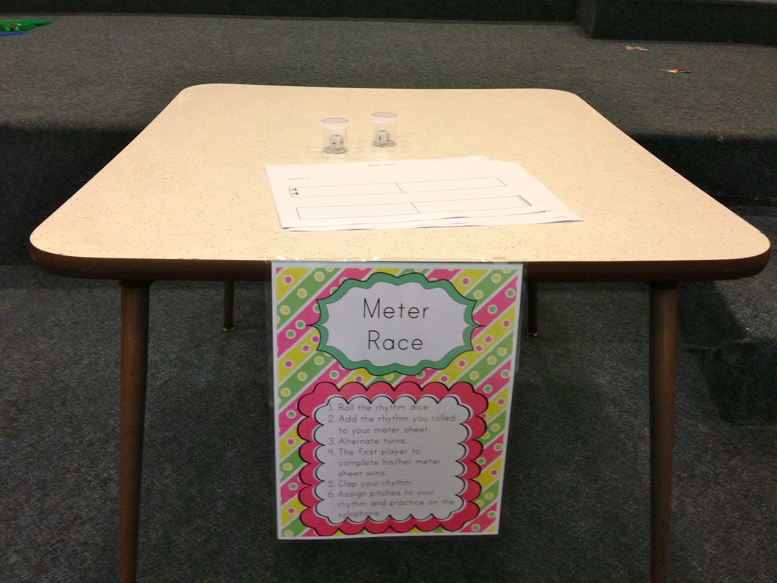 Elementary Music Resources Centers Meter Race