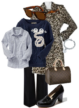 951aa3ed526b The Life of a Suburban Princess: Outfit of the day - the preppy leopard.
