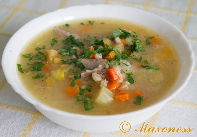 Шотландский пастуший суп из баранины. Британская кухня