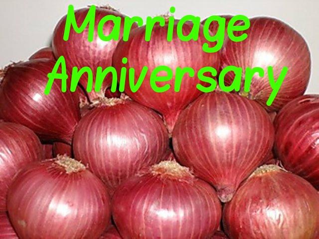 Wish You  Onion Marriage anniversary