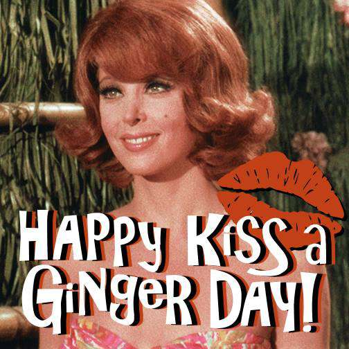 Kiss a Ginger Day Wishes Images download