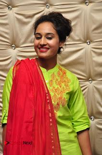 Actress Pooja Ramachandran Pictures in Salwar Kameez at Marala Telupana Priya Audio Launch  0049