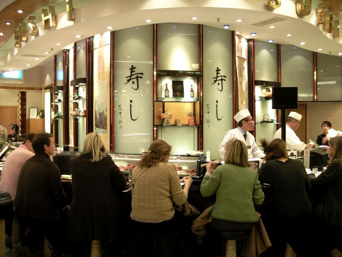 Sushi Bar in Harrods