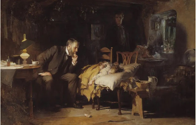 The doctor (1891) óleo de Luke Fildes (Tate Britain. Londres)