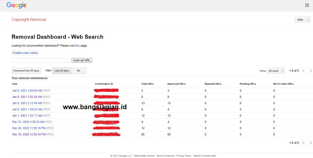 Cara Melaporkan Blog AGC atau Copy Paste Ke Google DMCA
