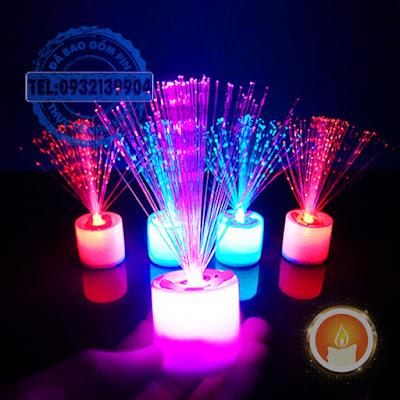 Nến led pháo hoa đổi màu