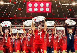 عدد مرات بفوز البايرن بلقب الدوري الألمانى البوندسليجا