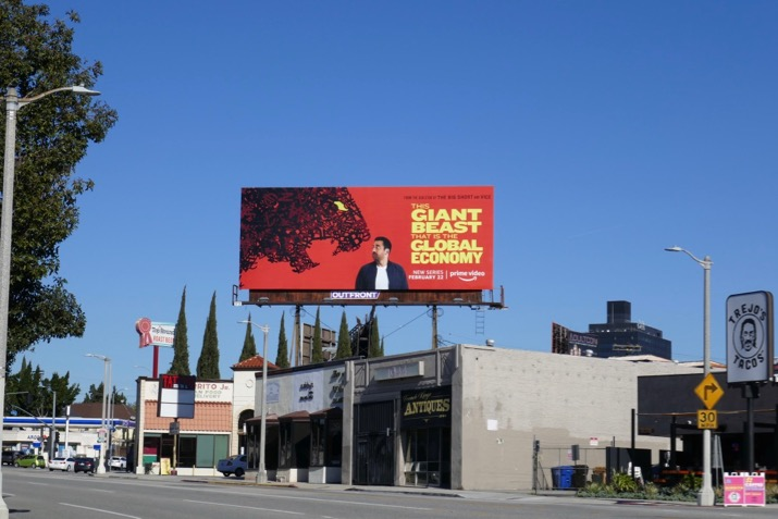 Giant Beast Global Economy billboard