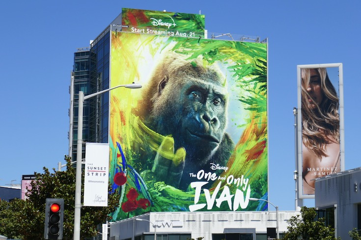 One and Only Ivan Disney+ movie billboard